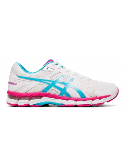 ASICS GEL-RINK SCORCHER 4 (D) WOMENS LAWN BOWLS SHOES WHITE/AQUARIUM
