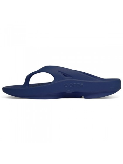 OOFOS OORIGINAL LAWN BOWLS THONGS NAVY