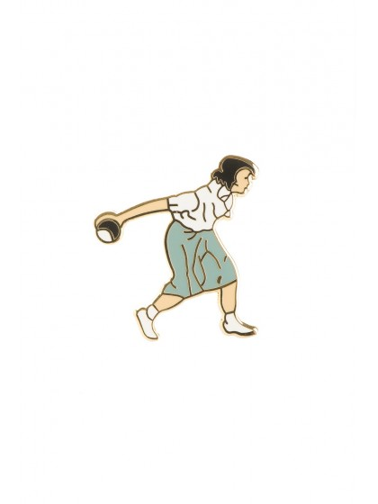 LADY BOWLER LAPEL BADGE