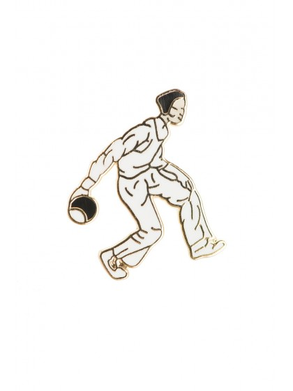GENT BOWLER LAPEL BADGE