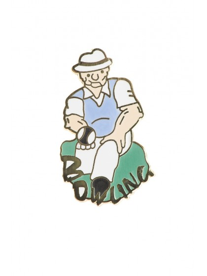 COMIC GENT LAPEL BADGE