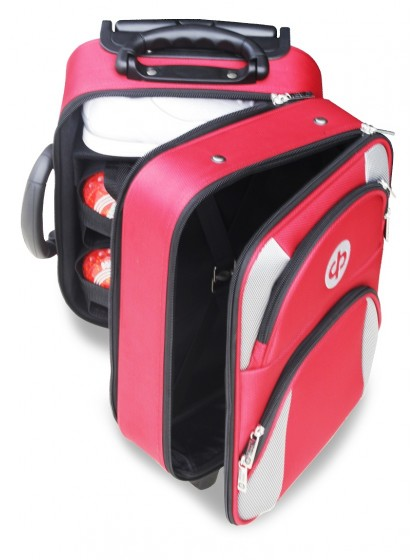 DRAKES PRIDE MAROON LOCKER TROLLEY LAWN BOWLS BAG