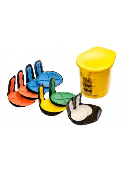 REBOUND DISC VELCRO FIX SET OF 8