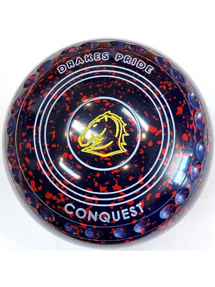 CONQUEST SIZE 4H GRIP DARK BLUE RED S1 1327