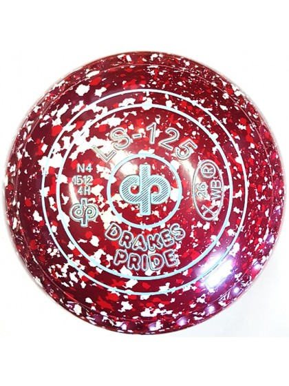 LS-125 SIZE 4H GRIP MAROON RED WHITE N4 1512