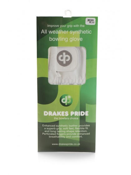 DRAKES PRIDE SYNTHETIC BOWLS WHITE GLOVE