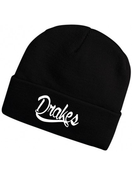 DRAKES PRIDE KNITTED BLACK BEANIE