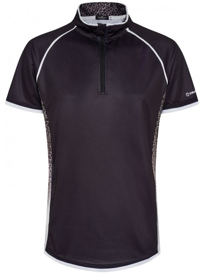 DRAKES PRIDE BLISS WOMENS SUBLIMATED LAWN BOWLS POLO BLACK