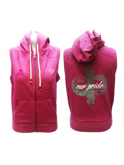 "DRAKES PRIDE ""OUR PRIDE"" SLEEVELESS HOT PINK HOODIE"