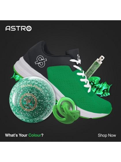 DRAKES PRIDE ASTRO LAWN BOWLS SHOES - GREEN/BLACK
