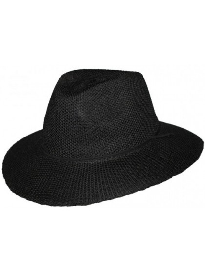 LADIES BLACK BROAD BRIM CANCER COUNCIL HAT