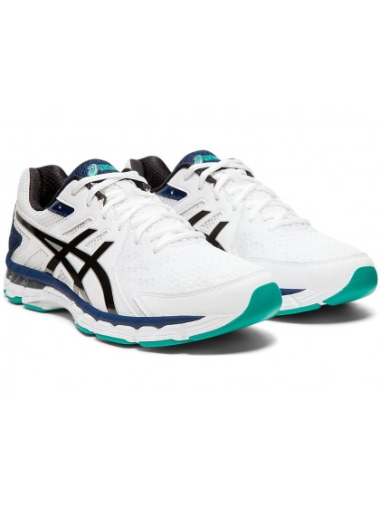 ASICS GEL-RINK SCORCHER 4 (4E) MENS LAWN BOWLS SHOES WHITE/BLACK