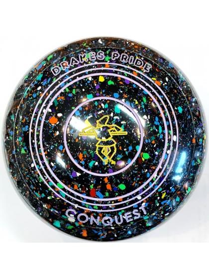 CONQUEST SIZE 1H GRIP BLACK HARLEQUIN R1 8409