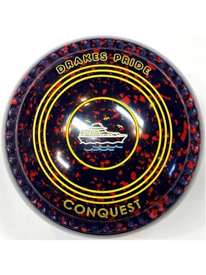 CONQUEST SIZE 3H GRIP DARK BLUE RED T4 2619 Featuring CHANNEL GRIP