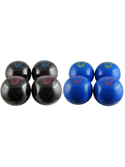 DRAKES PRIDE INDOOR CARPET BOWLS - 4 BOWLS BLACK & 4 BOWLS COLOURED