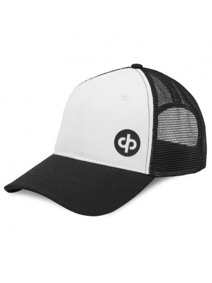 DRAKES PRIDE TRUCKER LAWN BOWLS CAP WHITE/BLACK