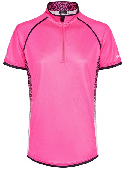 DRAKES PRIDE BLISS WOMENS SUBLIMATED LAWN BOWLS POLO PINK