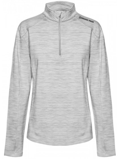DRAKES PRIDE SPORTE LEISURE LADIES LACY MOCK PULLOVER STORM MARLE