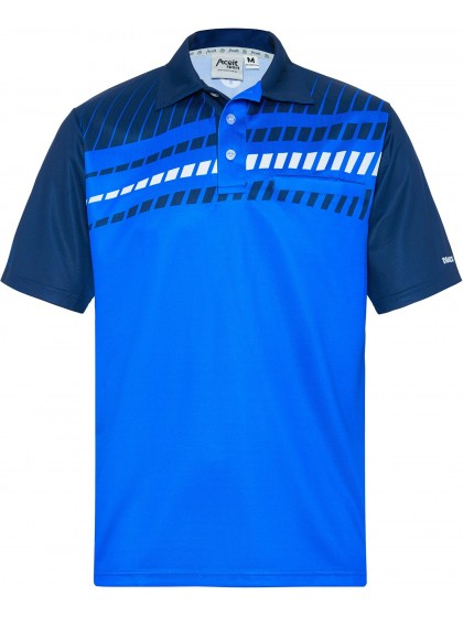 DRAKES PRIDE MEN'S ALPHA LAWN BOWLS POLO ROYAL/NAVY